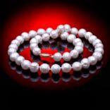 Diamantové náhrdelníky - Náhrdelník zlatý, perlový Dĺžka: 45cm