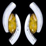 Náušnice s kameňom - Náušnice strieborné, CZ, polkruhy