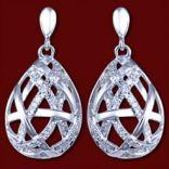Diamantové náušnice - Náušnice zlaté, diamanty, kvapky