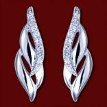 Diamantové náušnice - Náušnice zlaté, diamanty, vlny