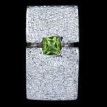 Prívesky s kameňom - Prívesok strieborný, CZ, obdĺžnik