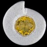 Prívesky s kameňom - Prívesok strieborný, CZ, špirála