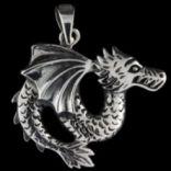 Prívesky zvieratká - Prívesok strieborný, drak