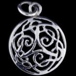 Prívesky bez kameňa - Prívesok strieborný, keltský