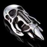 Prívesky bez kameňa - Prívesok strieborný, lebka (helma)