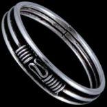 Prstene bez kameňov - Prsteň strieborný, bali