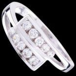 Prstene s kameňmi - Prsteň strieborný, CZ, elegantný