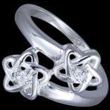 Prstene s kameňmi - Prsteň strieborný, CZ, hviezdičky
