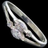 Prstene s kameňmi - Prsteň strieborný, CZ, ovál