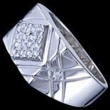 Prstene s kameňmi - Prsteň strieborný, CZ, pečatný