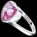 Prstene s kameňmi - Prsteň strieborný, CZ, srdce