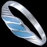 Prstene bez kameňov - Prsteň strieborný, emailový