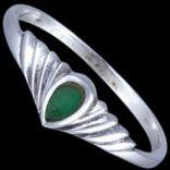Prstene bez kameňov - Prsteň strieborný, emailový, slzička