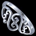 Prstene bez kameňov - Prsteň strieborný, esíčka
