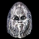 Prstene bez kameňov - Prsteň strieborný, gorila