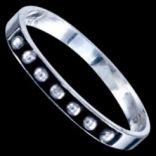 Prstene bez kameňov - Prsteň strieborný, guličky