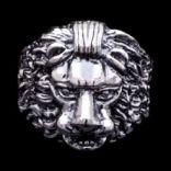 Prstene bez kameňov - Prsteň strieborný, lev