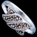 Prstene s kameňmi - Prsteň strieborný, markazit