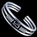 Prstene na nohu - Prsteň strieborný, na nohu