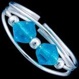 Prstene s kameňmi - Prsteň strieborný, na nohu