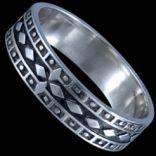 Prstene bez kameňov - Prsteň strieborný, obrúčka