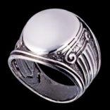 Prstene bez kameňov - Prsteň strieborný, pečatný