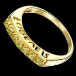 Prstene s kameňmi - Prsteň strieborný, peridot, FOREVER