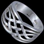 Prstene bez kameňov - Prsteň strieborný, preplietaný