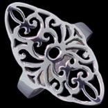 Prstene bez kameňov - Prsteň strieborný, rastlinný motív