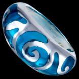 Prstene bez kameňov - Prsteň strieborný, resin