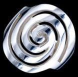 Prstene bez kameňov - Prsteň strieborný, špirála