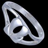 Prstene bez kameňov - Prsteň strieborný, tulipán