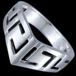 Prstene bez kameňov - Prsteň strieborný, tvar V
