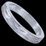Prstene bez kameňov - Prsteň strieborný, vlnovka