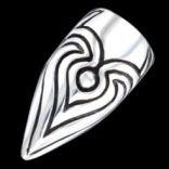 Prstene bez kameňov - Prsteň strieborný, vyrezávaný pazúr