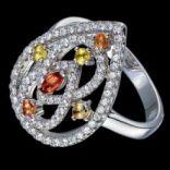 Prstene s kameňmi - Prsteň strieborný, zafír