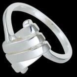 Prstene bez kameňov - Prsteň strieborný, zviazaná obrúčka