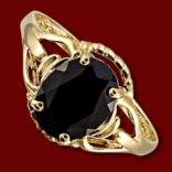 Diamantové prstene - Prsteň zlatý, čierny zafír