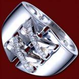 Diamantové prstene - Prsteň zlatý, diamanty, opasok