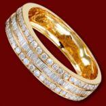 Diamantové prstene - Prsteň zlatý, diamanty, zásnubný, obrúčka