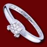 Diamantové prstene - Prsteň zlatý, diamanty, zásnubný
