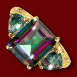 Diamantové prstene - Prsteň zlatý, mystický topás