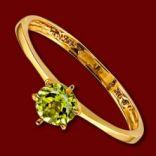 Diamantové prstene - Prsteň zlatý, peridot, zásnubný