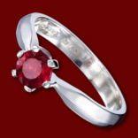 Diamantové prstene - Prsteň zlatý, rubín, zásnubný