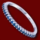 Diamantové prstene - Prsteň zlatý, zafíry, obrúčka