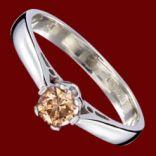 Diamantové prstene - Prsteň zlatý, zásnubný, diamant