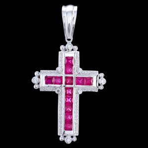 280dcdee8 Prívesok strieborný, zirkón, kríž 156.53€ - Prívesky kríže - Sperky7.sk