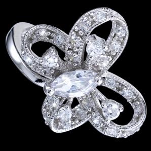 acedac0c0 Prsteň strieborný, zirkón, motýľ 38.84€ - Prstene s kameňmi - Sperky7.sk